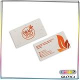 cartão de visitas em pvc valor Cidade Patriarca