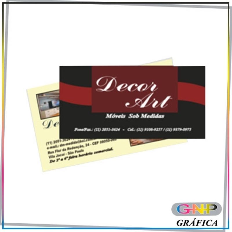 Cartão de Visitas em Verniz Ermelino Matarazzo - Cartão de Visitas em Pvc