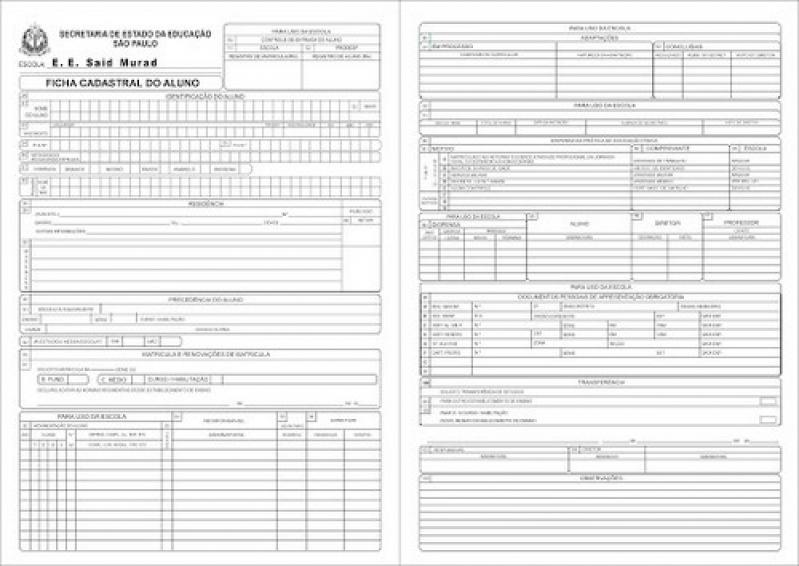 Ficha de Matrícula para Berçário Preços Vila Formosa - Ficha de Matrícula Educação Infantil