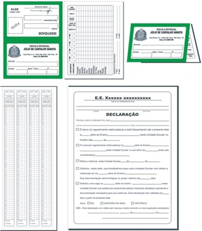 Orçamento de Impressão Boletim Escolar Aricanduva - Impressão Ficha Remissiva Escolar