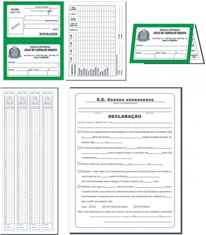 Orçamento de Impressão de Declaração de Escolaridade Jardim Santa Terezinha - Impressão Boletim Escolar