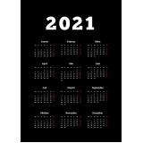 calendário 2021 folha a4 Parque do Carmo