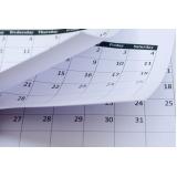 calendário de folha