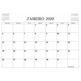 calendário em folha a4