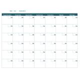 calendário folha a4