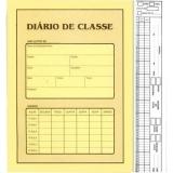diário escolar personalizado Vila Ré