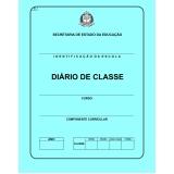 diário escolar de professor