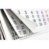 onde encontrar folha calendário Cidade Patriarca