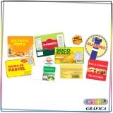 rótulo adesivo para alimentos preço Parque São Jorge
