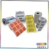 rótulo adesivo para cosméticos