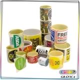 rótulo adesivo para embalagem